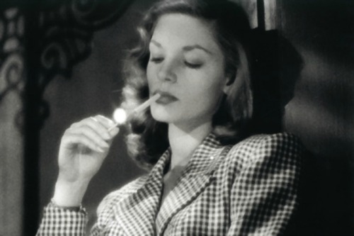 Lauren Bacall smoking