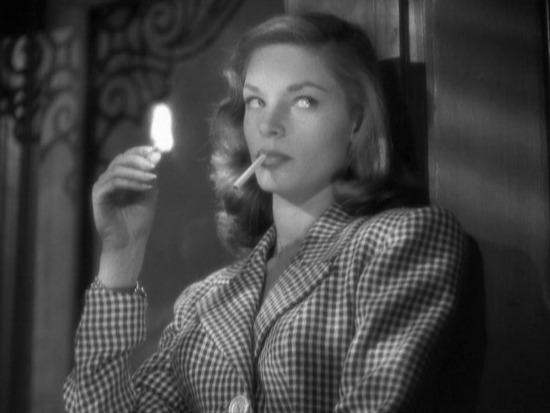 Lauren Bacall smoking in To Have Have Not