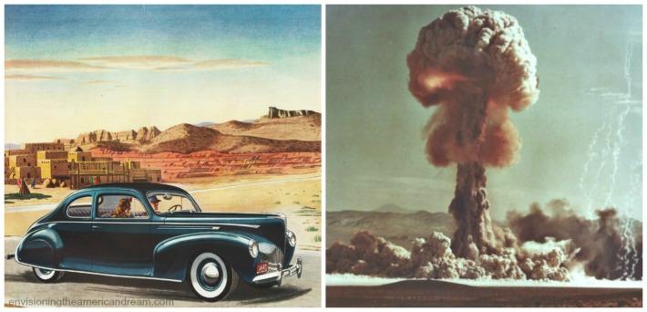 atomic blast and illustration car
