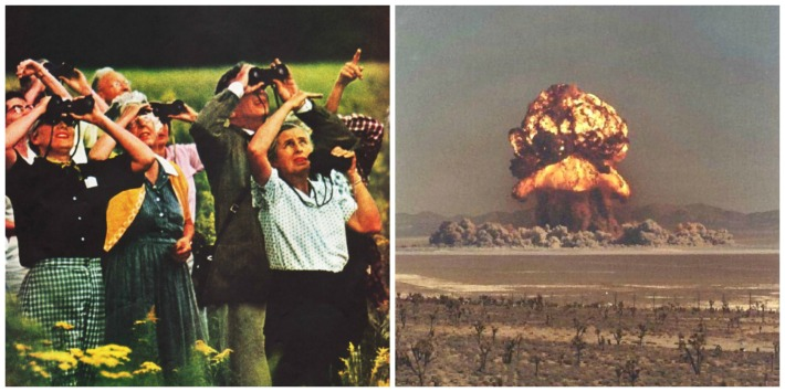 Nuclear test site explosion