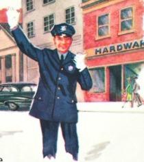 vintage illustration policeman