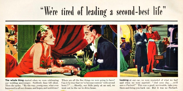 Vintage Packard Car Ad 1937