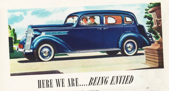 Vintage Packard Car Ad 1937y