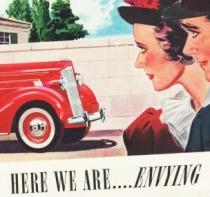 Vintage Packard Car Ad 1937