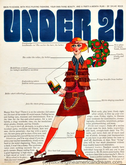 Illustration fashion 1968