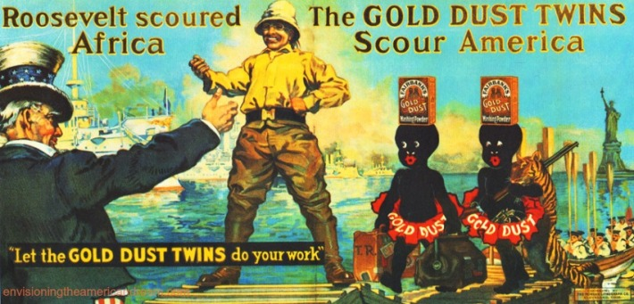 Teddy Roosevelt_Gold Dust Twins vintage ad