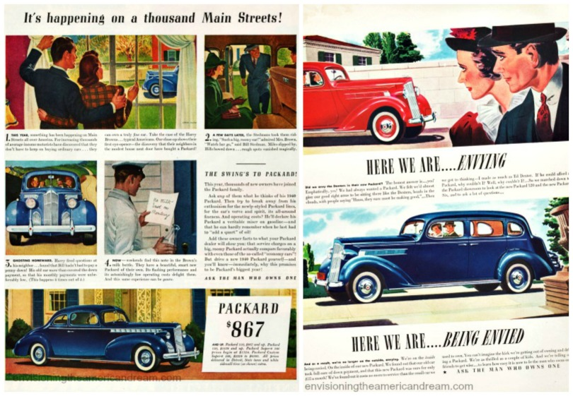 vintage car ads Packards envy