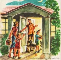 Vintage illustration childrens book