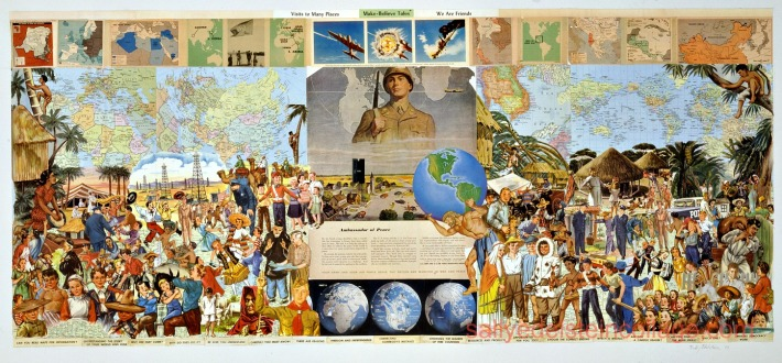 "Collage Sally Edelstein ""Ambassador of Peace """