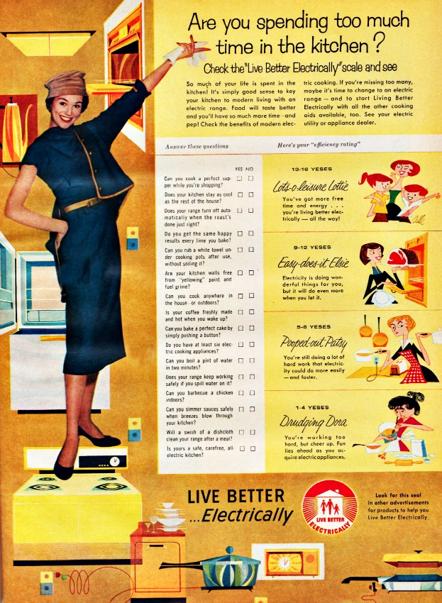 Vintage ad 1958 Live Better Electrically