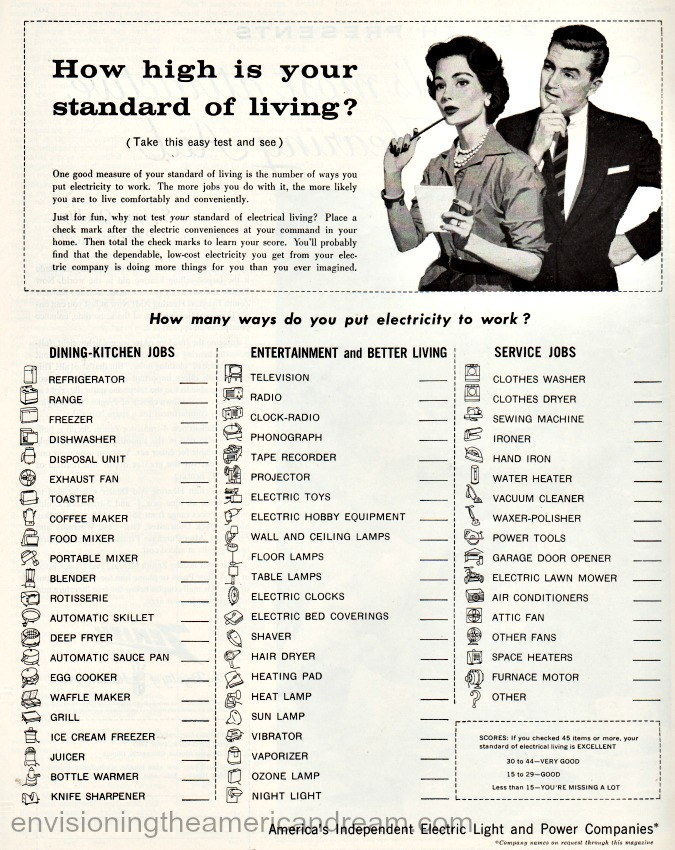 VintageVintage ad 1957-Americas Independent Electric Light and Power Companies