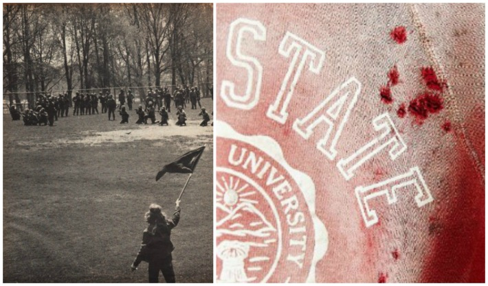 pictures of Kent State 1970 Urban outfitter controversial sweatshirt