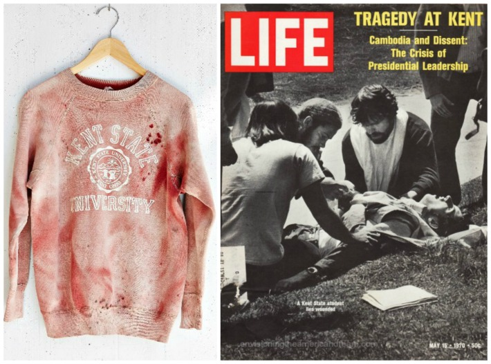 Kent State Sweatshirt Life magazine cover Tragedy At Kent State