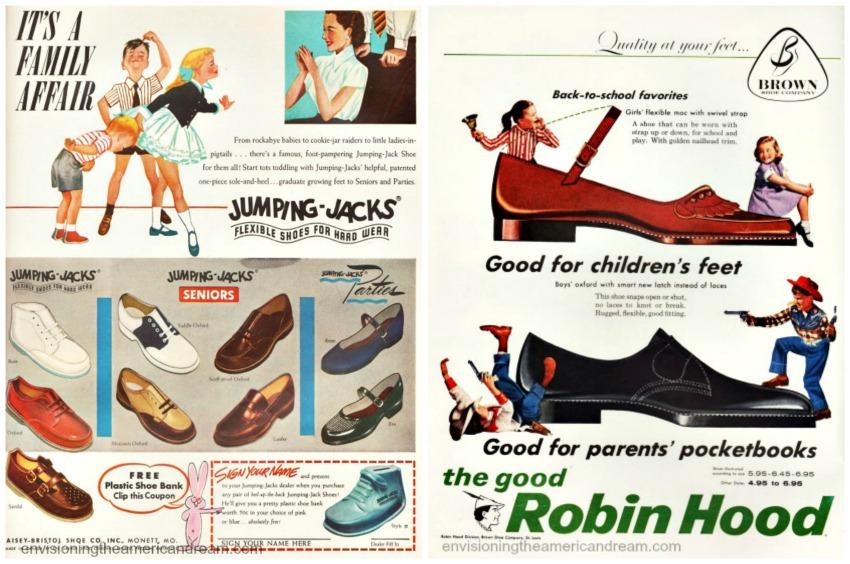 Retro Shoe Store Ads For Children