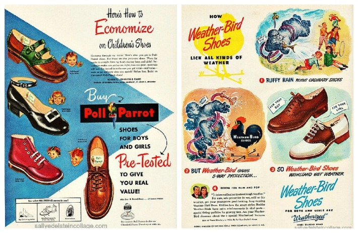 vintage ads childrens shoes 1950s