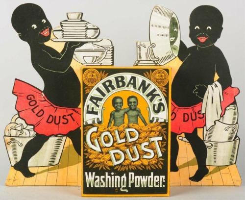 laundry Gold dust twins washing powder ad