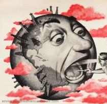 vintage illustration of sick earth