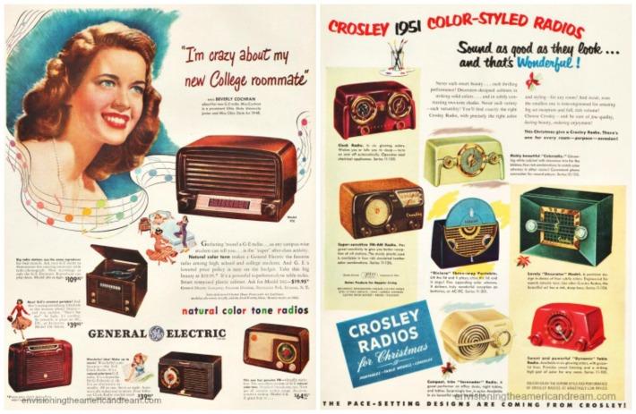 vintage radio ads 1940's 50's