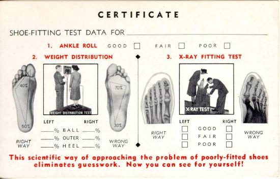 vintage shoe card