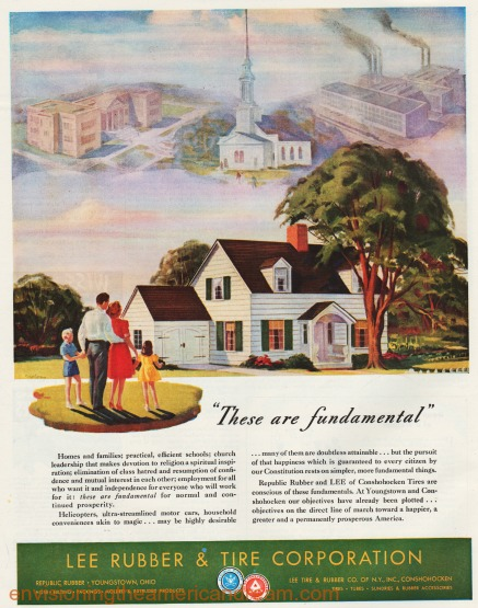 vintage ad illustration American Dream 1940s