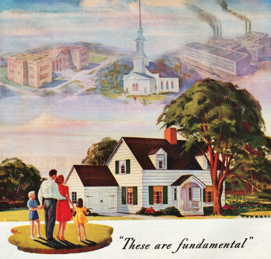 vintage ad American dream illustration