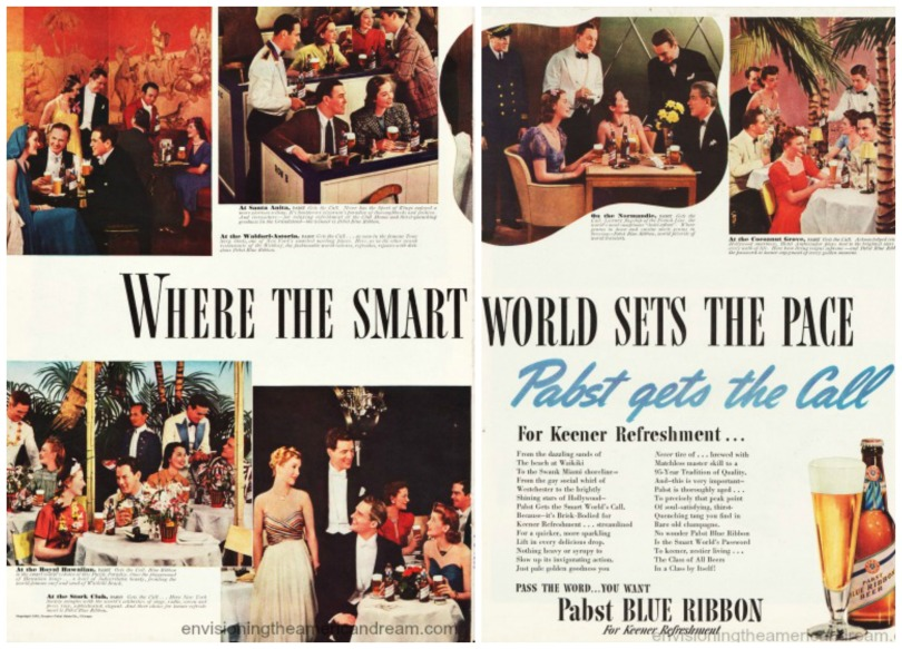 Vintage ad Beer Pabst Blue Ribbon 1939 Smart Set
