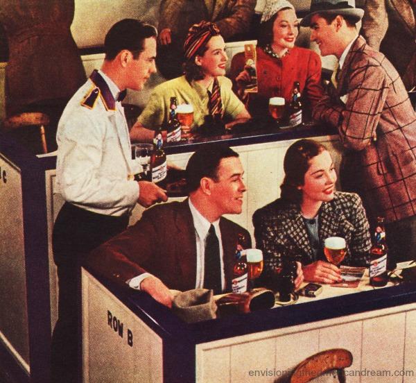 vintage ad Beer Pabst 1939 Santa Anita race track