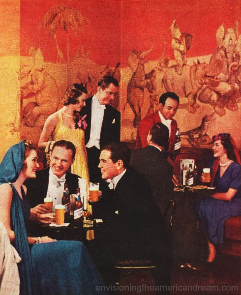 Waldorf Astoria  drinking beer 1939