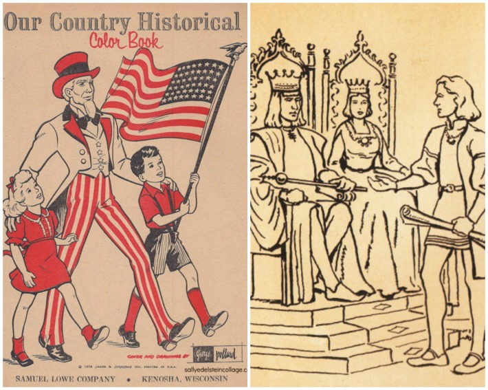 Columbus Coloring Book Uncle Sam and Columbus