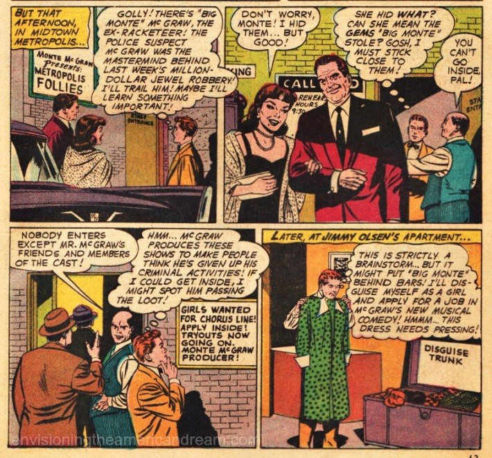 vintage Comics Jimmy Olsen drag