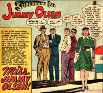 vintage comic Jimmy Olsen drag