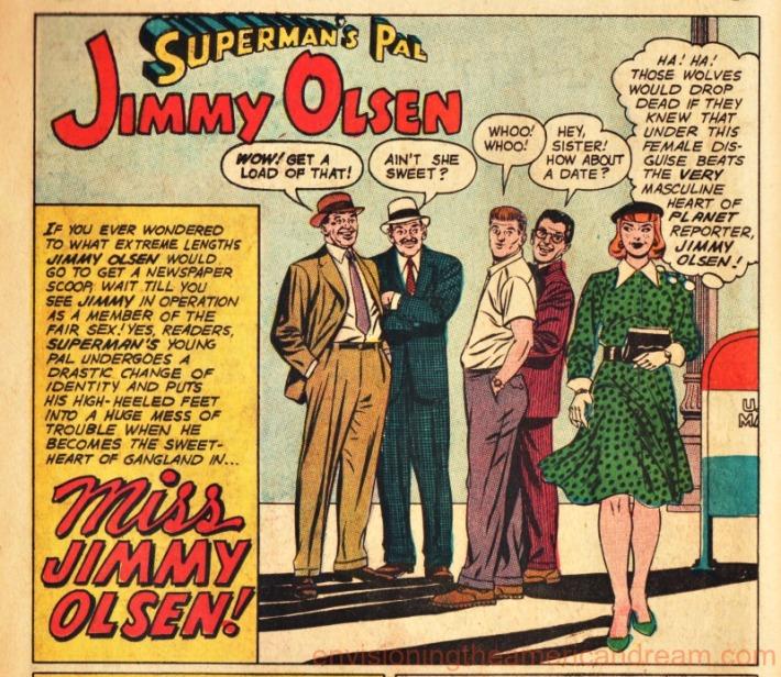 intage comics Jimmy Olsen drag