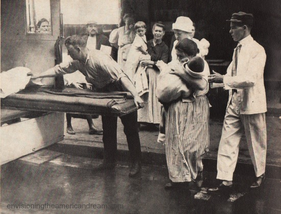 Vintage photo hospital workers polio epidemic 1916