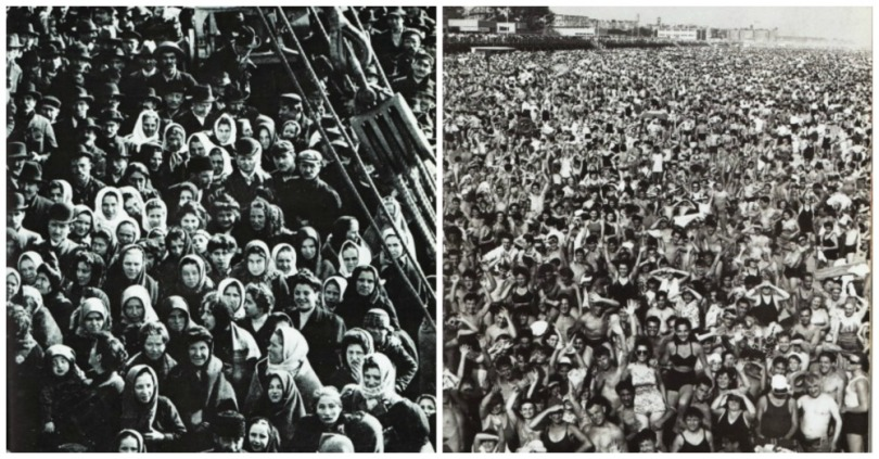 Health Polio immigrants crowds