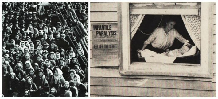 health polio quarantine 1916 and immigrants