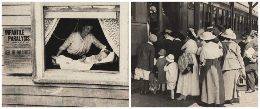 vintage photos from the polio epidemic 1916