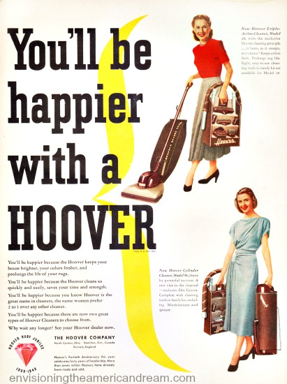 vintage Hoover Ad Housewife vacuum cleaner