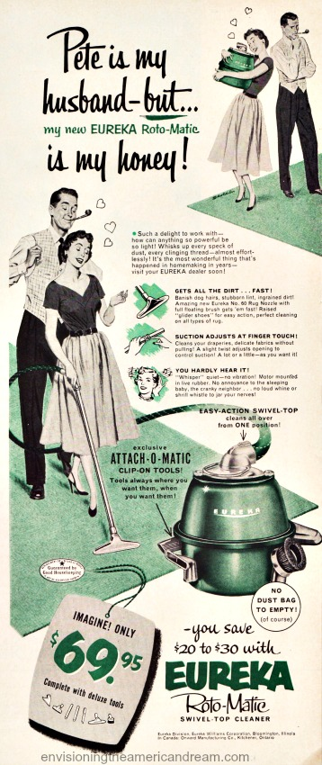housewife eureka vacuum cleaner ad