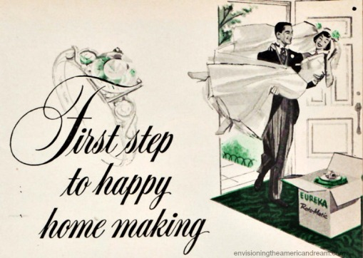 vintage illustration Housewife Bride  Eureka