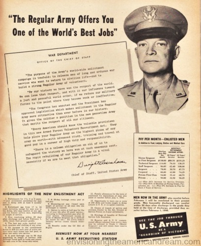 General Eisenhower vintage military recruitment ad 1946