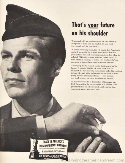 Vintage Army recruitment ad picture soldier