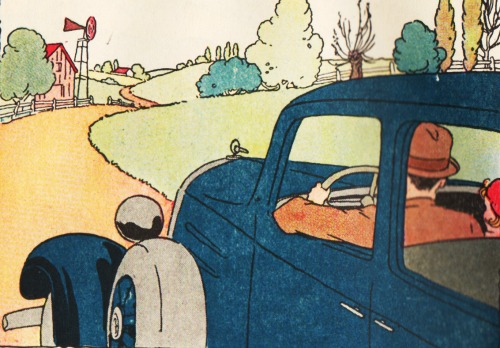 vintage school book illustration a ride in the country