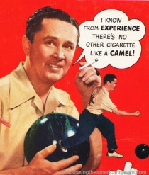 vintage man with bowling ball