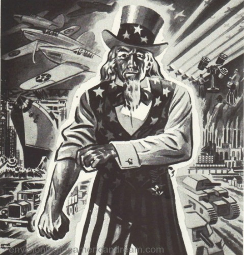 vintage illustration of Uncle Sam