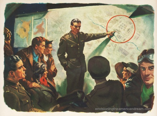 vintage illustration soldiers planning war strategy