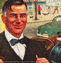 vintage illustration small businessman