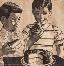 vintage illustration 2 boys