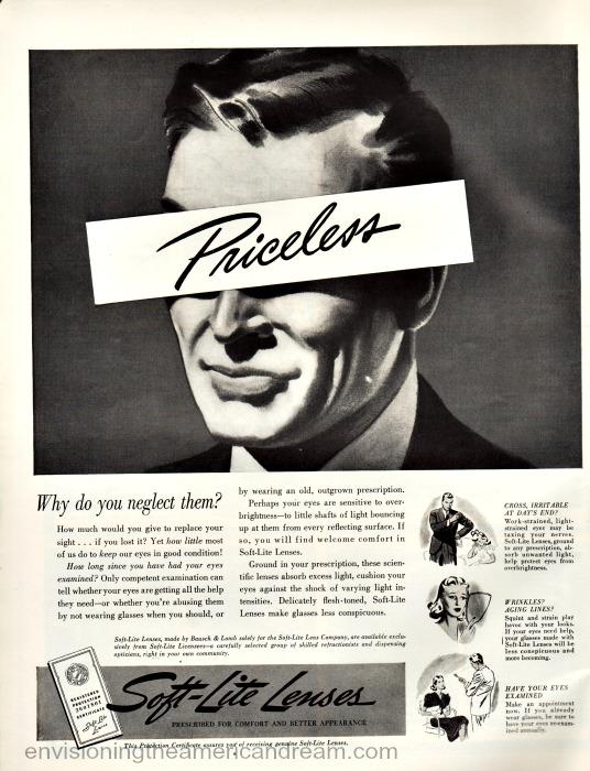Vintage Ad  Soft Lite Lenses