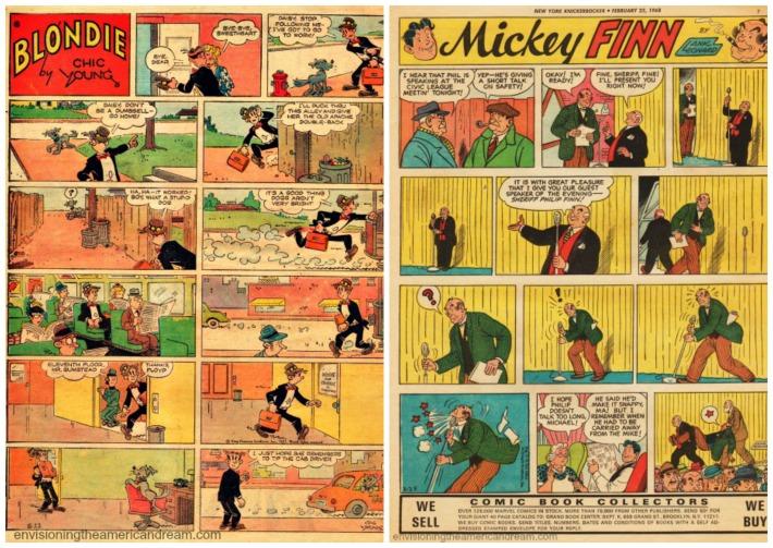 Vintage Comics Blondie and Mickey Finn