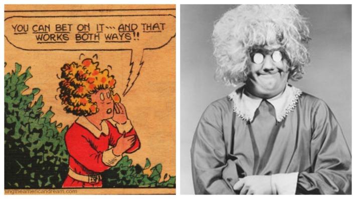 vintage comics Little orphan Annie and Chuck McCann